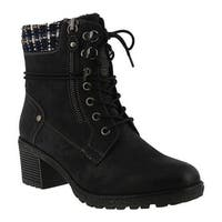 Spring Step Women's Hellewn Ankle Boot Black Synthetic