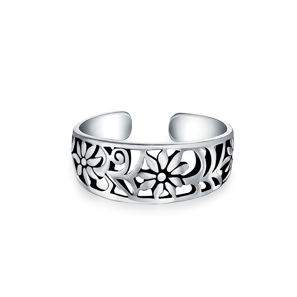 Jewelry & Watches Toe Rings NEW Unique Genuine 925 Sterling Silver Moon and Star Toe Ring USA Seller