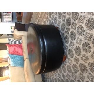 Copper Grove Julius Large Round Button-top Storage Ottoman