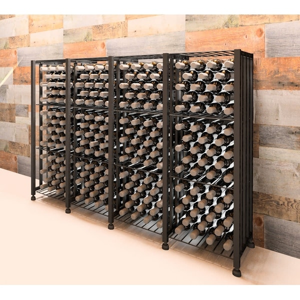 VintageView CC-BIN-S4-K Case and Crate 192 Bottle Capacity 3-1/2 Foot Tall Free Standing Wine Bin