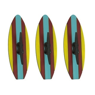 Colorful Nautical Cleat Surfboard Wall Hook Set - 11.75 X 4 X 1.75 inches
