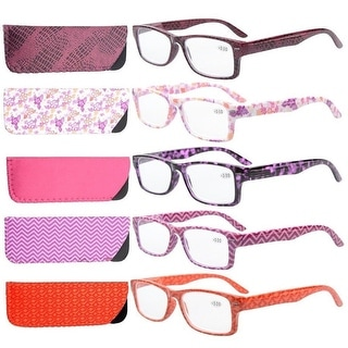 eyekepper 5pack spring hinges patterned reading glasses readers women 05