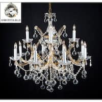 Chandelier Lighting With Crystal Balls H30 x W28