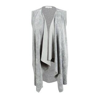 Calvin Klein Women's Plus Size Faux-Suede Knit Vest - 2X