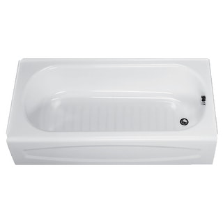 "American Standard 0255.112  New Salem 60"" Enameled Steel Soaking Bathtub with Right Hand Drain - White"