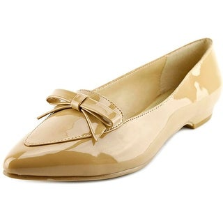 Ann Marino by Bettye Muller Sublime Women Pointed Toe Patent Leather Nude Flats