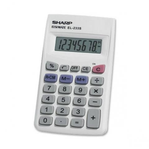 Sharp EL233SB LCD Display Calculator, 8 Digit, 3-Key Memory
