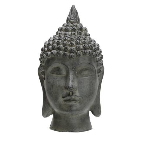 "20"" Buddha Head, Gray"