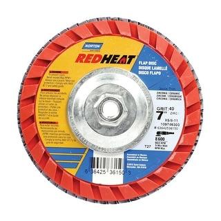 "Norton 63642536150 Flap Disc, Red, 7"""