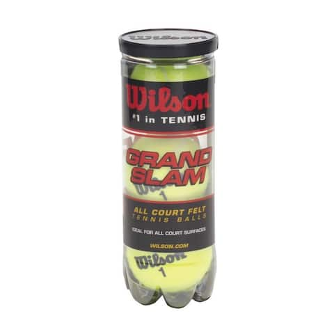 Wilson WRT1043 Grand Slam Extra Duty Tennis Ball, Yellow, 3-Pack