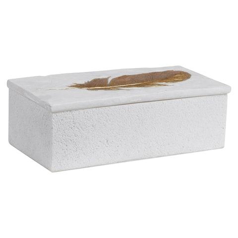 Uttermost Nephele White Stone Box
