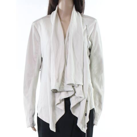 Blank NYC White Ivory Womens Size Large L Flyaway Zipper Jacket