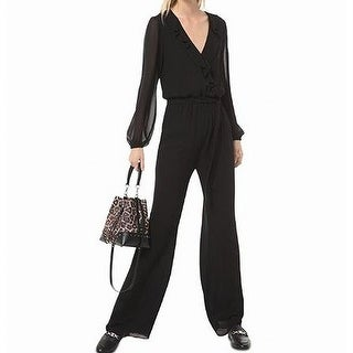 Link to Michael Michael Kors Women's Jumpsuit Black Size Small S Ruffle Front Similar Items in Outfits