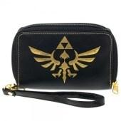 Zelda Logo Black Zip Around Wallet