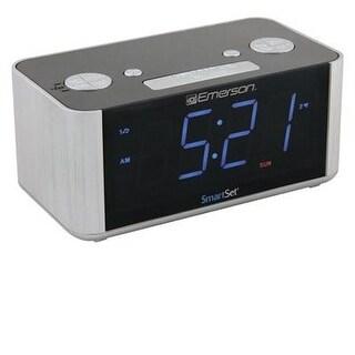 Emerson Cks1708 Smartset Radio Alarm Clock With Blue Led Display