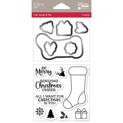 Jillibean Soup Shaker Clear Stamps & Die Set-Be Merry