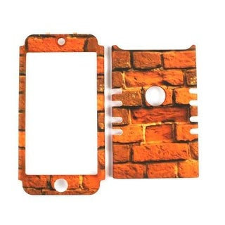 Unlimited Cellular Rocker Snap-On Case for Apple iPod Touch 5 (Red Bricks)