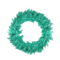 "36"" Pre-Lit Seafoam Ashley Spruce Christmas Wreath - Clear & Green Lights"