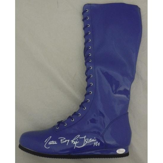 "Ric Flair Autographed WWE Wrestling Boots Blue (Left) ""16x"" JSA"