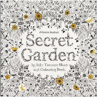 Secret Garden: An Inky Treasure Hunt and Coloring Book - Adults & Children - MultiColor