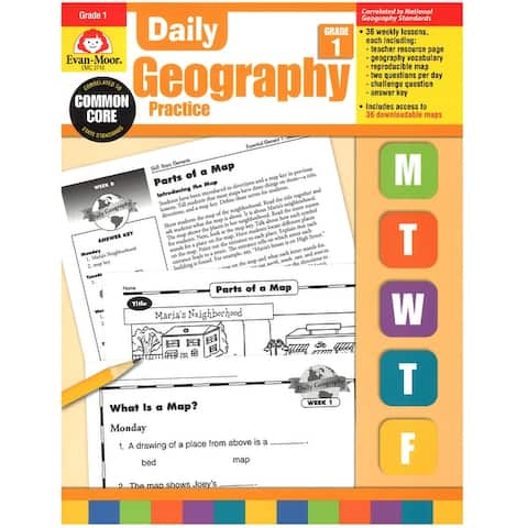 Daily Geography Practice Book, Grade 1