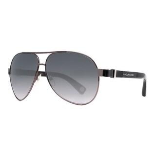 Marc Jacobs MJ 445/S CVL/HD Ruthenium Black Grey Gradient Aviator Sunglasses - Gunmetal - 63mm-11mm-135mm