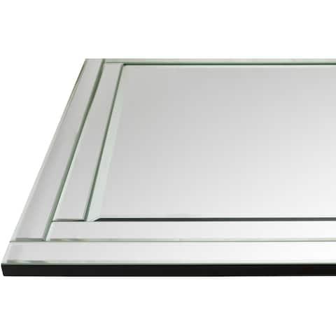 "Jimmie Framed Medium Size Rectangular Wall Mirror - 35.4"" x 53.2"""