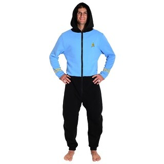 Star Trek Blue Spock Adult Pajama one piece