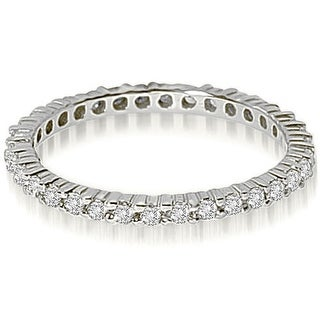 0.60 cttw. 14K White Gold Round Shared Prong Diamond Eternity Ring