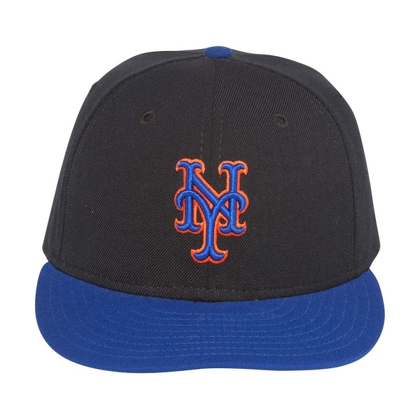 info for 1f247 bdc5f MLB New Era New York Mets Wool Fitted Hat-Black Royal - 6 3