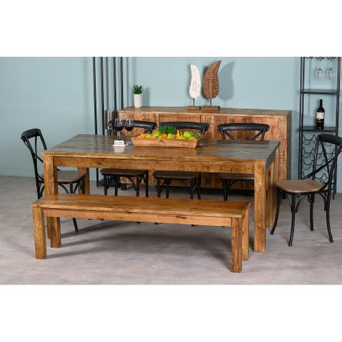"Dakota Wooden Dining Bench 67"""