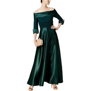Jessica Howard Womens Evening Dress Off-The-Shoulder Ball Gown