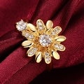 Charming Gold Daisy Ring - Thumbnail 2