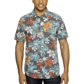 O'Neill Blissful Multi Color Floral Faded Casual Short Sleeve Shirt Large L