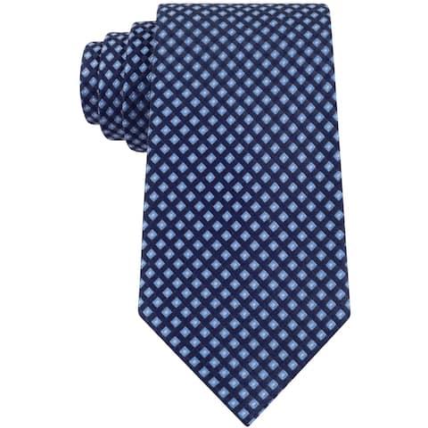 Club Room Mens Geo Self-tied Necktie, blue, One Size - One Size