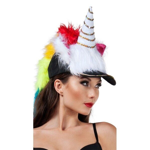 Fuzzy Unicorn Hat, Fuzzy Hat - As Shown - One Size Fits Most. Opens flyout.