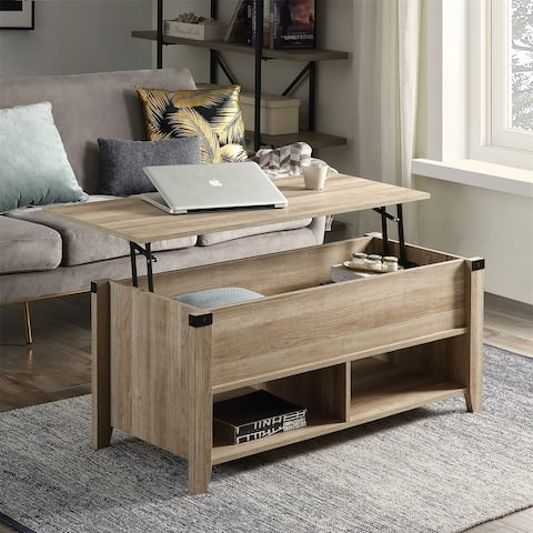 Merax Lift Top Coffee Table with Hidden Storage and Open shelf