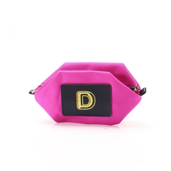 "Boulevard NEW Bright Pink Monogram ""D"" Nylon Bubble Pouch Mini Wallet"