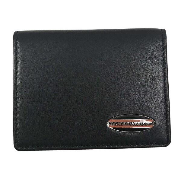 "Harley-Davidson Men's Soft Napa Leather C.C. Caddy Wallet, Black NP5758L-BLACK - 4"" x 3"""