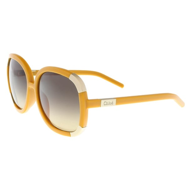 eb2329ed1d0 Shop Chloe CL2119 799 Yellow Beige Square Sunglasses - 59-17-135 ...
