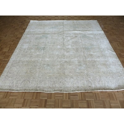 """Hand Knotted Beige Turkish with Wool Oriental Rug (9'9"""" x 10'9"""") - 9'9"""" x 10'9"""""""