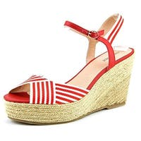 Nine West Breeze Women Red Wedge Sandal - 9.5