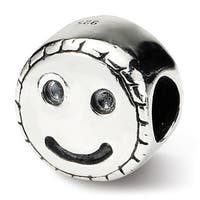 Sterling Silver Reflections Kids Smiley Face Bead (4mm Diameter Hole)