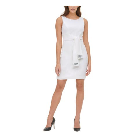 TOMMY HILFIGER White Sleeveless Above The Knee Dress 6