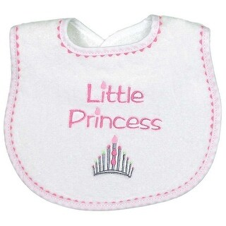"Raindrops Baby Girls ""Little Princess"" Embroidered Bib, Strawberry - One size"