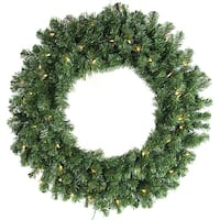 "Prelit Norway Pine Wreath 200 Tips, 35 Lights 24""-"