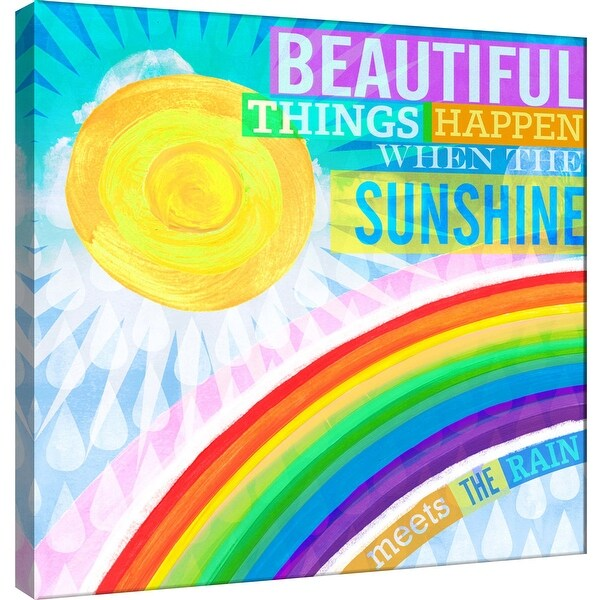 "PTM Images 9-100994 PTM Canvas Collection 12"" x 12"" - ""Dream Every Day - Sunshine Rain"" Giclee Beautiful Art Print on Canvas"