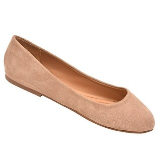 Weeboo Adult Taupe Faux Suede Round Toe Slip-On Trendy Flats