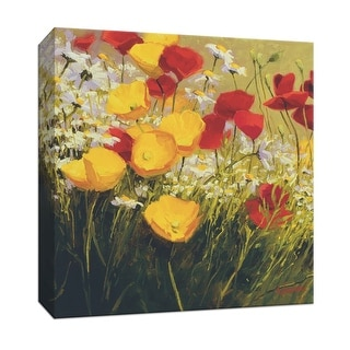 """PTM Images 9-153305  PTM Canvas Collection 12"""" x 12"""" - """"Poppies and Daisies"""" Giclee Flowers Art Print on Canvas"""