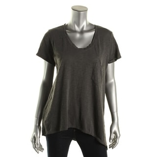 Parc and Pearl Womens Cotton Slub T-Shirt - M